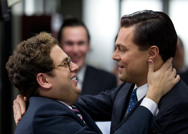 """Jonah Hill, left, and Leonardo DiCaprio in """"The Wolf of Wall Street."""""""