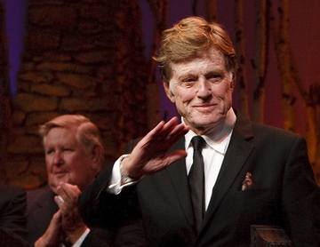 """Robert Redford, who was honored Saturday for his contributions to Utah, said he and those he differs with politically love """"this state and our country and the people."""""""