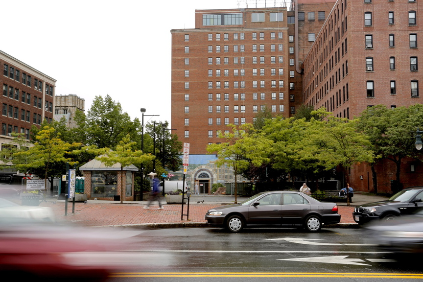 The best way to express displeasure with the City Council's decision to sell part of Congress Square Plaza, above, would be to go to the polls Tuesday and vote out the two incumbents who supported the sale.