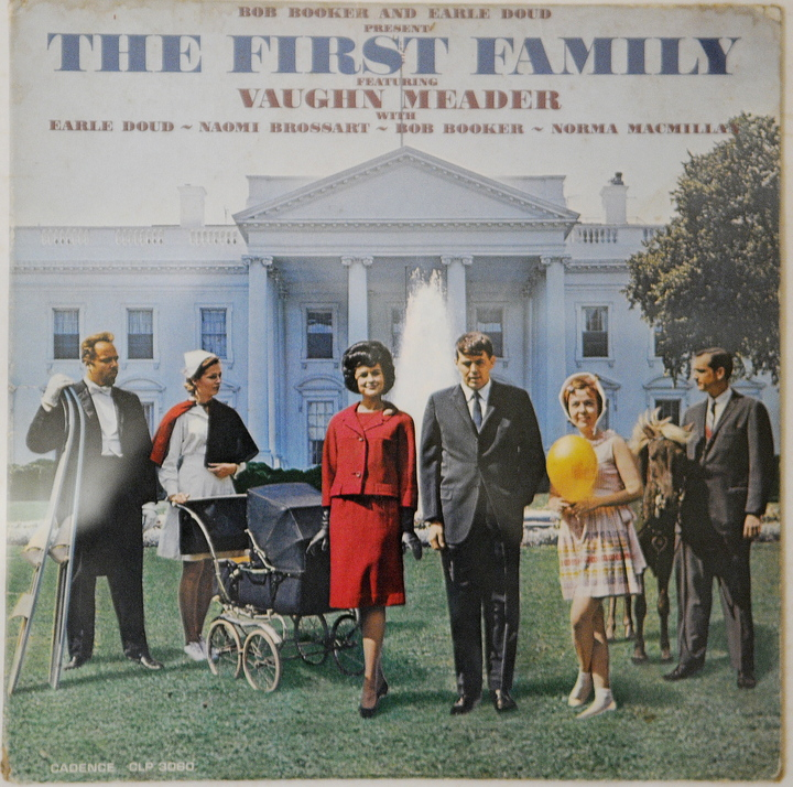 """Abbott Vaughn Meader's most famous comedy album, """"The First Family,"""" in 1962."""