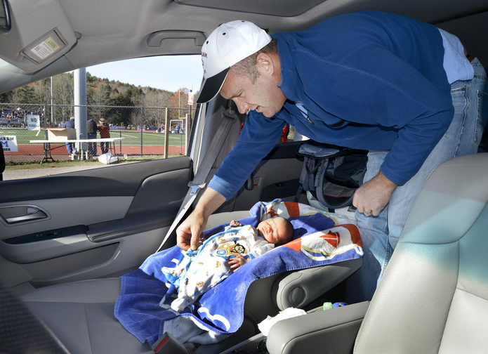 While his wife, Deb, was busy coaching Windham to the Class A girls' soccer state championship Saturday, Mike Lebel had other duties – changing the diaper on his 5-day-old son, Ben, in their minivan. Deb Lebel left the hospital early to match the commitment that her players had shown.