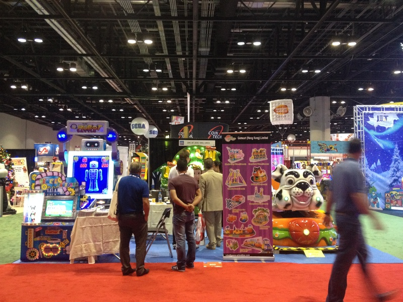 Exhibitors and visitors at the International Association of Amusement Parks and Attractions annual trade show in Orlando, Fla.