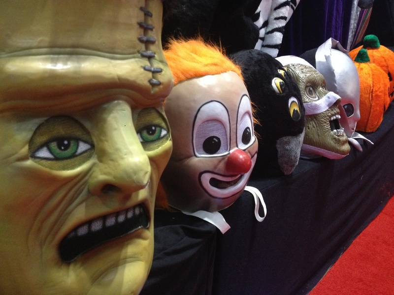 Masks are for sale at the International Association of Amusement Parks and Attractions annual trade show in Orlando, Fla., the largest of its kind in the industry.
