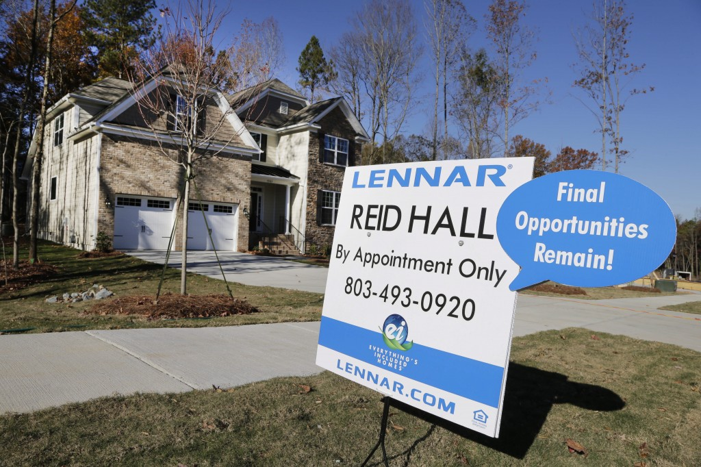 A home is advertised for sale recently in Matthews, N.C. Across the country, the inventory of available homes dropped 2.1 percent last month to 1.88 million, the fewest since March.
