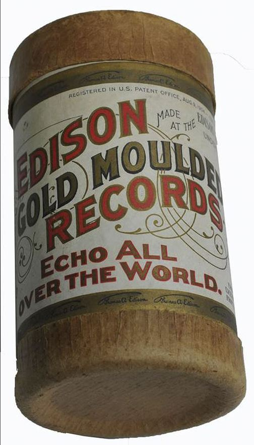 """This tube contains a wax-covered cylinder etched with an 1893 recording of """"Mama's Black Baby Boy"""" by the Unique Quartet."""