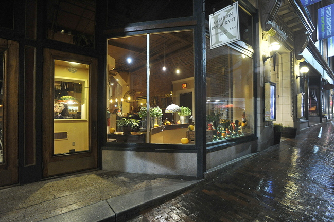 Located next door to Portland Stage Company, Katahdin is thronged with theater goers on show nights.