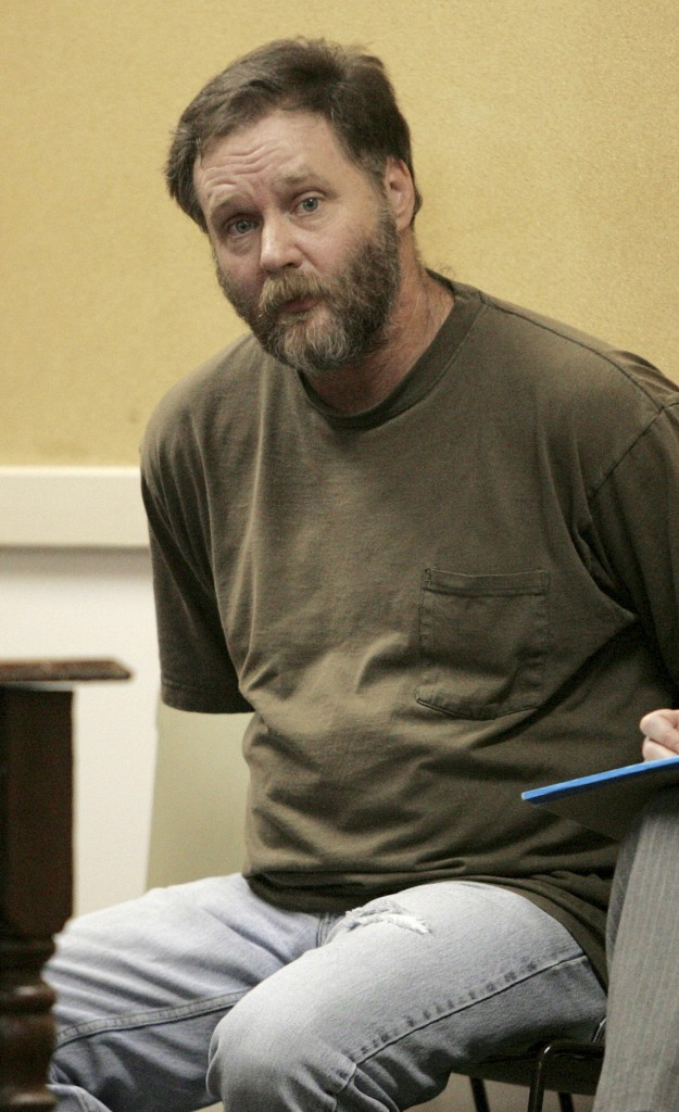David McLeod waits for his arraignment in Keene, N.H. The state's most prominent cold case finally is going to trial Monday.