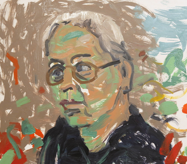 Stonington artist Jon Imber painted this self-portrait at his studio this year.