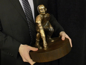 Donald Goodrich of Cheverus was presented with last year's Fitzpatrick Trophy.