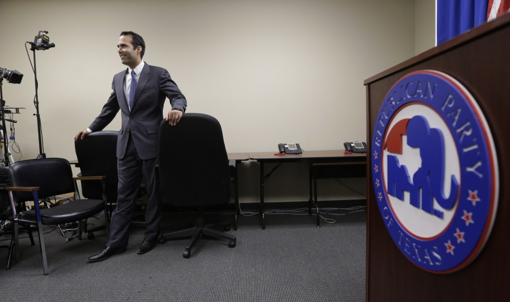 George P. Bush, who has a lineage to two former presidents, is seen in Austin, Texas, on Nov. 19 after filing to run for Texas land commissioner. Meanwhile, Texas Republicans are moving to counter the work of Battleground Texas, a political action committee led by veterans of President Obama's campaign.
