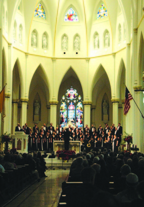 """""""Christmas at the Cathedral,"""" featuring the Choral Arts Society and the Portland Brass Quintet, will be presented at the Cathedral of the Immaculate Conception in Portland on Saturday and Sunday."""