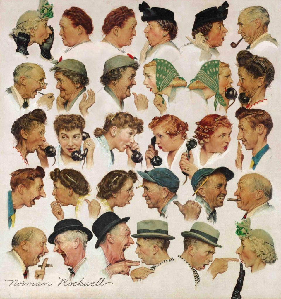 "This undated file photo provided by Sotheby's shows the popular Norman Rockwell masterpiece ""The Gossips"" which sold Wednesday, Dec. 4 for just under $8.5 million at Sotheby's in New York."