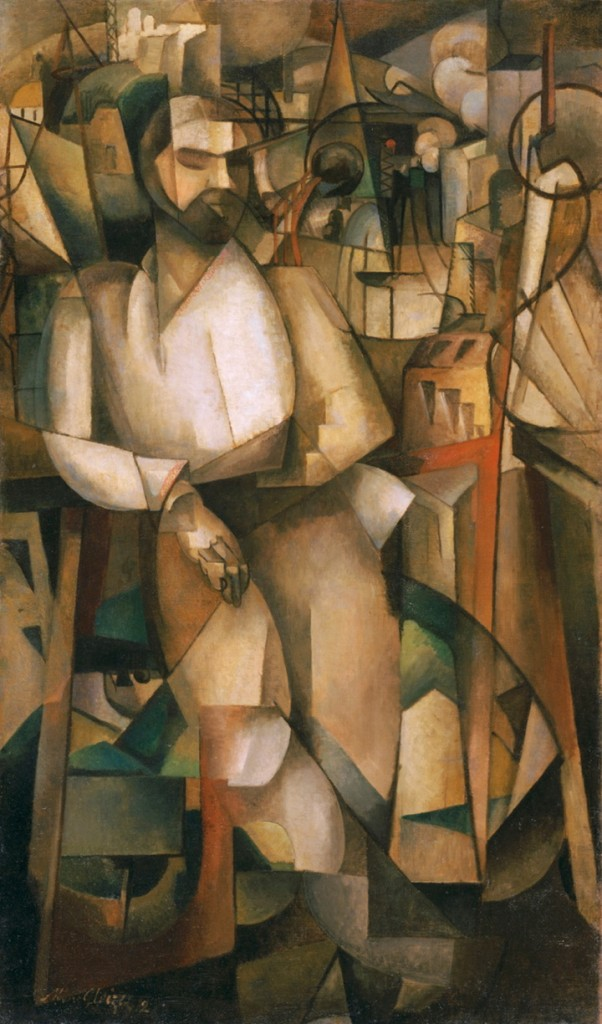 """""""Man on a Balcony (Portrait of Dr. Morinaud)"""" 1912, by Albert Gleizes, who was considered to be a founding member of the Cubist movement."""