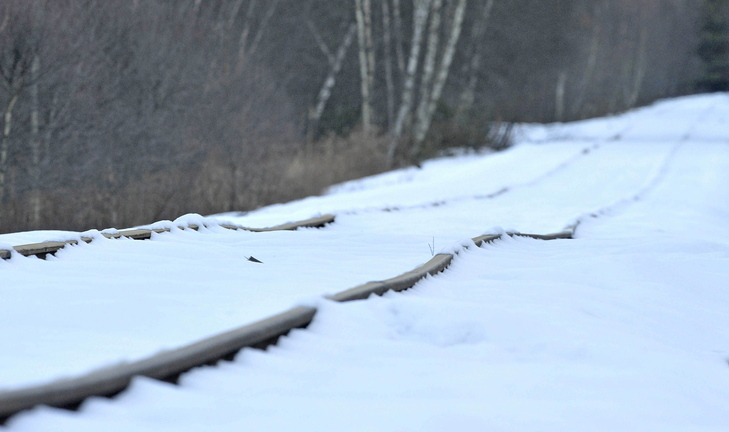 Madison Paper Industries has stopped shipping on Pan Am rail lines like these in Oakland because derailments hampered the paper company's deliveries, according to a paper company official. The section of track is near Martin Stream Road and the Fairfield and Norridgewock town line.