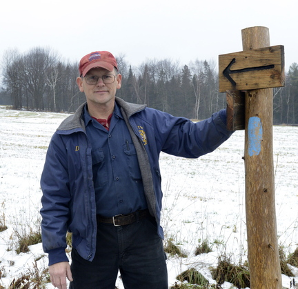 Landowner David Smith with Unity Barn Raisers has allowed a new section of the Hills to Sea trail in Unity to pass through his property, and hopes others are just as farsighted.