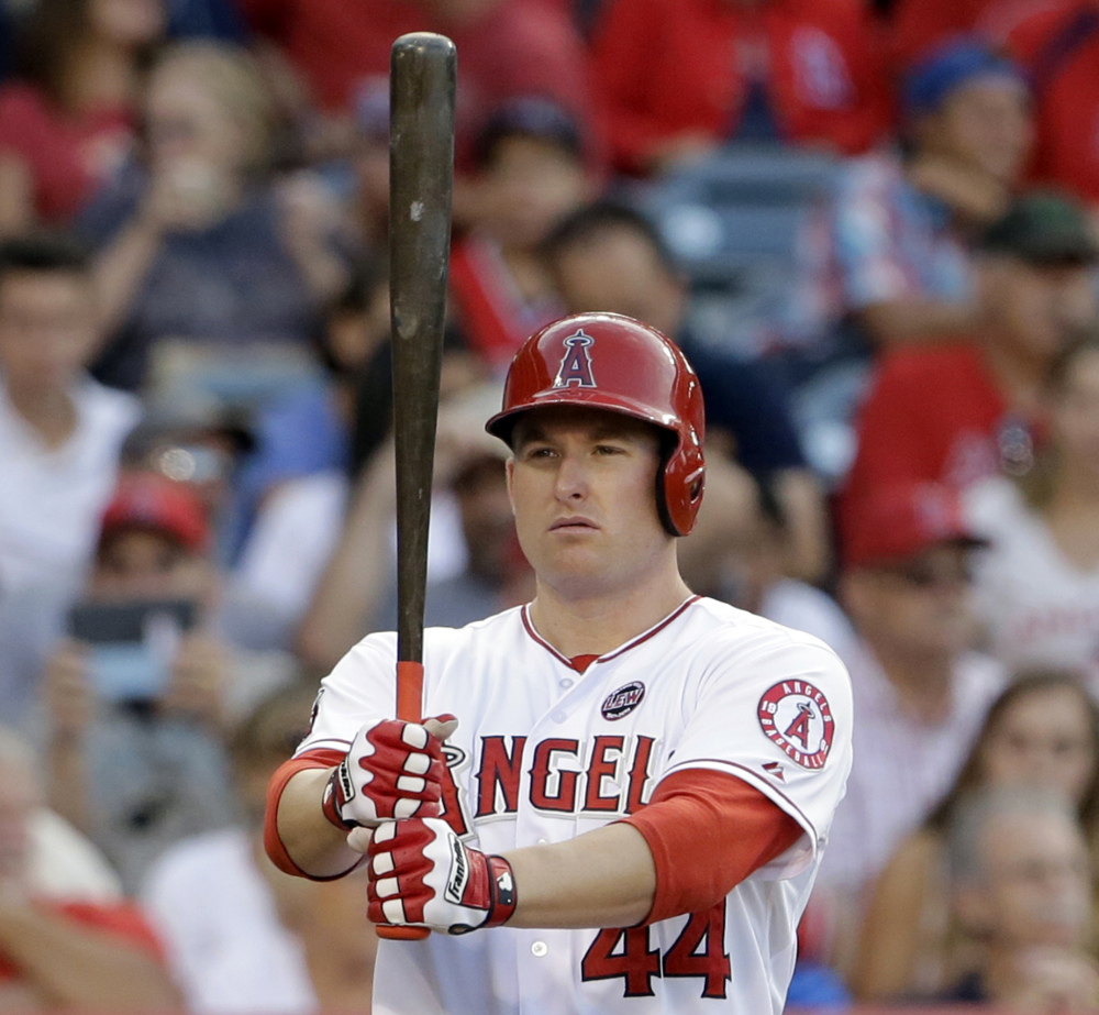 Mark Trumbo, who hit 34 homers in 2013, was sent from the Angels to the Diamondbacks Tuesday as part of a three-team deal that also involved the White Sox.