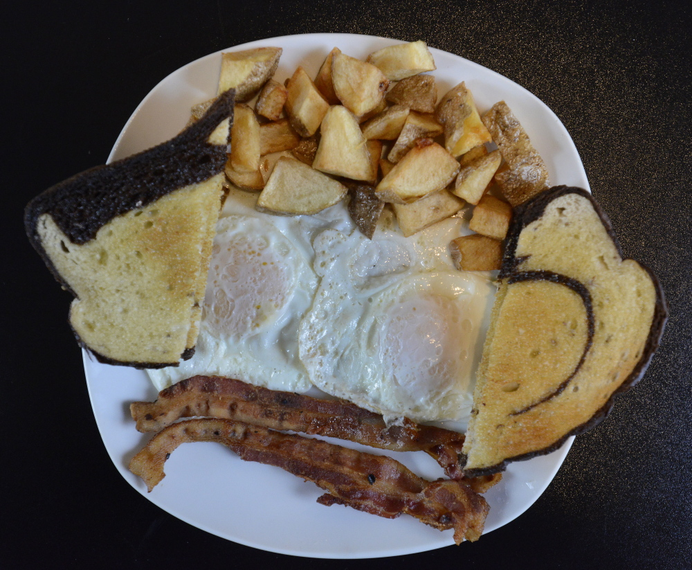 The Big Breakfast Platter served at Forest Falls Cafe in Yarmouth.