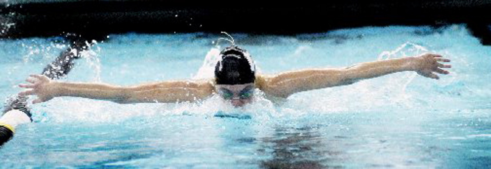 Waynflete's Colby Harvey eventually will be swimming for Florida State, but has unfinished business here this winter.