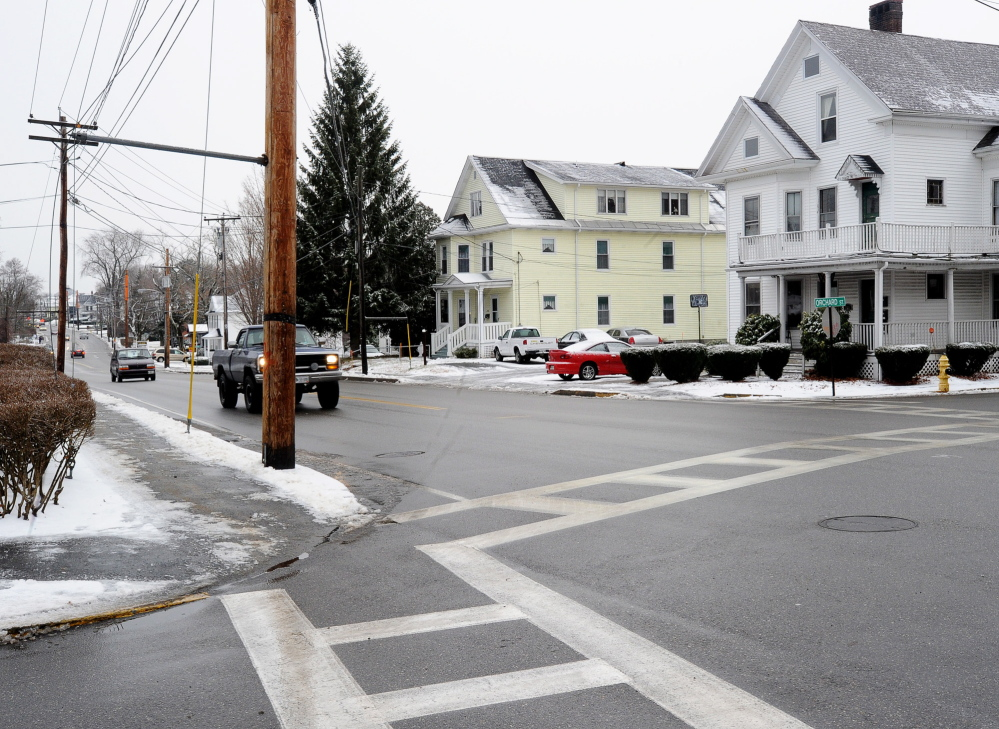 Sister Viola Lausier was struck near this intersection while crossing from her house on Elm Street to Saint Andre Home in Biddeford. Police are still looking for the hit-and-run driver.
