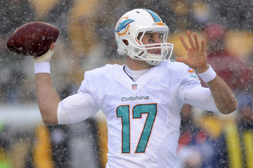 Quarterback Ryan Tannehill didn't let the Pittsburgh snow faze him as he played one of his better games in Miami's victory over the Steelers last Sunday.