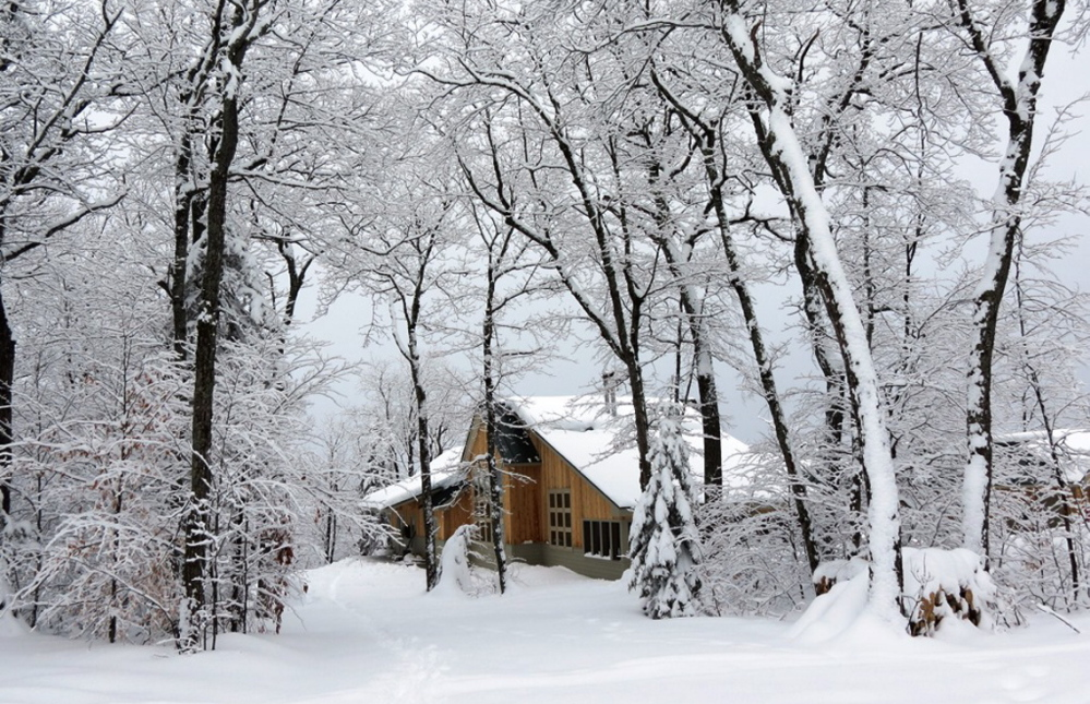 The Stratton Brook Hut is on the Maine Huts and Trails system – a system that offers four huts and 80 miles of ski trails around the Bigelows. The accommodations are well worth it for any skier.