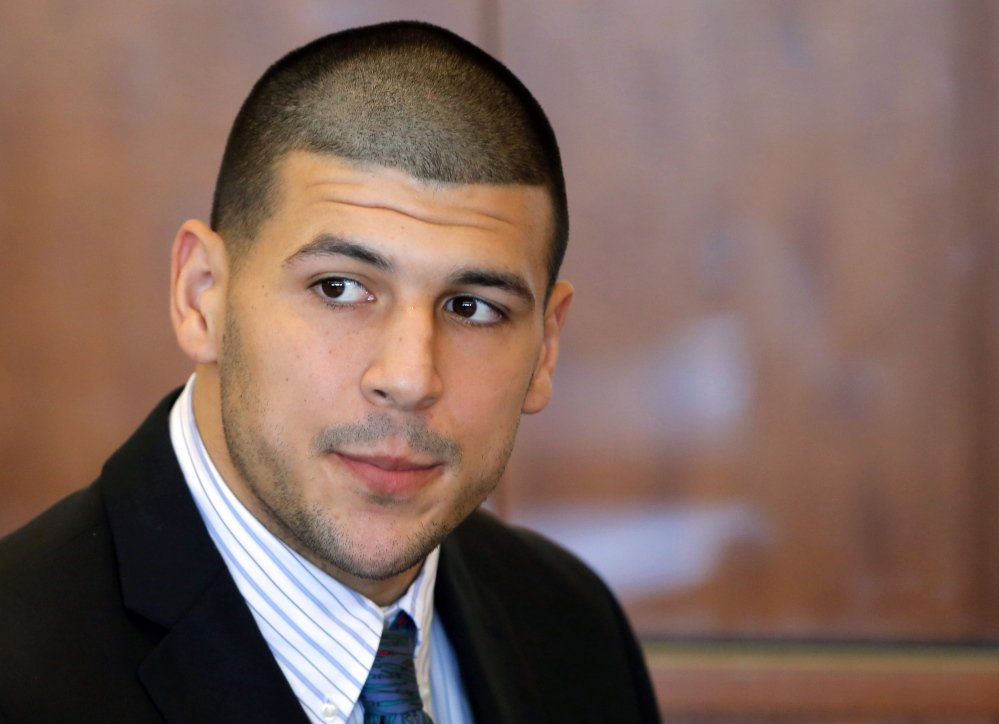 Former New England Patriot Aaron Hernandez denies killing Odin Lloyd, a semiprofessional football player from Boston who was dating the sister of Hernandez's girlfriend.