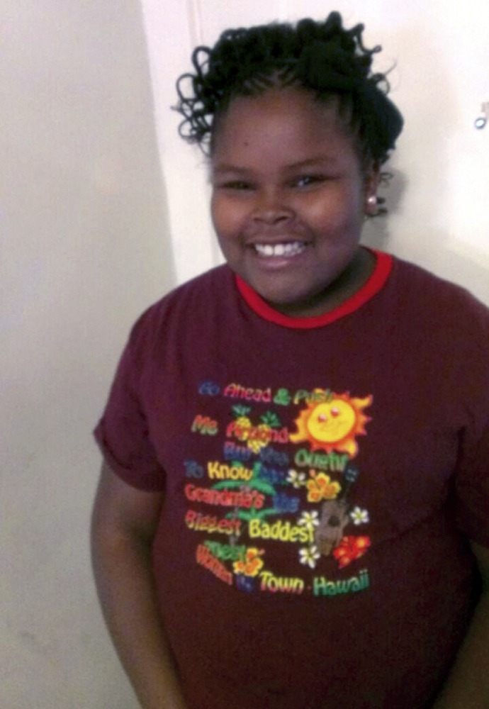 This undated photo provided by the McMath family and Omari Sealey shows Jahi McMath. McMath remains on life support at Children's Hospital Oakland nearly a week after doctors declared her brain dead, following a supposedly routine tonsillectomy.