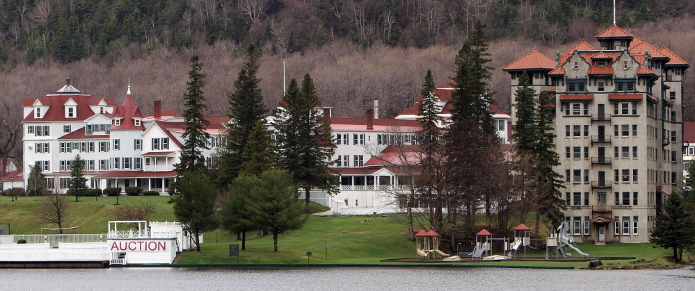 "The Balsams Grand Resort Hotel in Dixville Notch, N.H. is shown in May 2012. The first votes in presidential primary elections are traditionally cast here. When operating, the hotel also employs 200 local workers and is ""a mainstream anchor to the economy."""