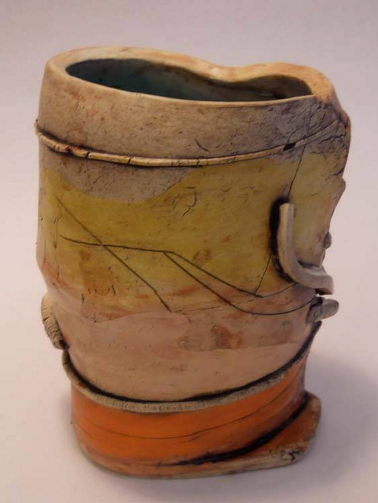Clay vessel by Jody Dube.