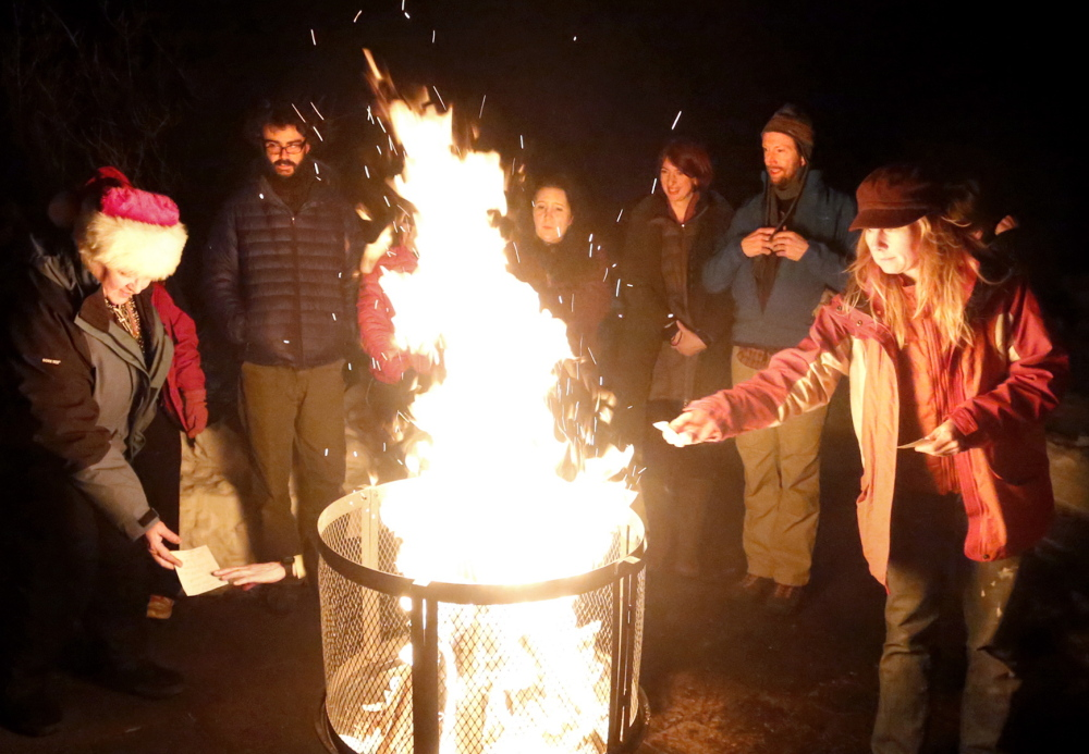 After writing down their intentions for the upcoming year, winter solstice celebrants toss their papers into the fire so their prayers and resolutions can reach the spirit world. And if they're praying for longer and warmer days, their prayers will indeed be answered.