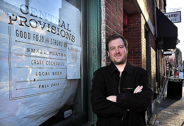 Chris Gould stands outside 414 Fore St., where he is opening a restaurant and bar called Central Provisions. 979929