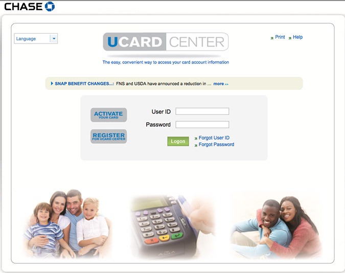 A screen image of the homepage for the Ucard website. The JPMorgan Chase notified the state on Dec. 4 that the website had been breached in mid-September.