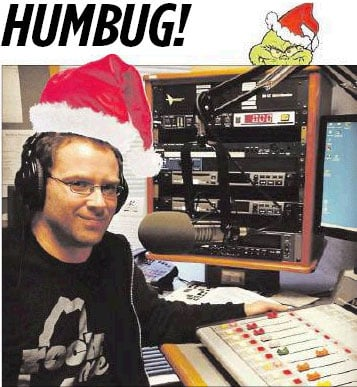 As a DJ, Rick Johnson has endured listening to Christmas songs way too many times.