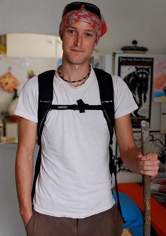 Levi Bridges, who received a Fulbright Scholarship in creative writing in 2012, prepares to leave his apartment in Mexico City on a trip to a small mountain community.