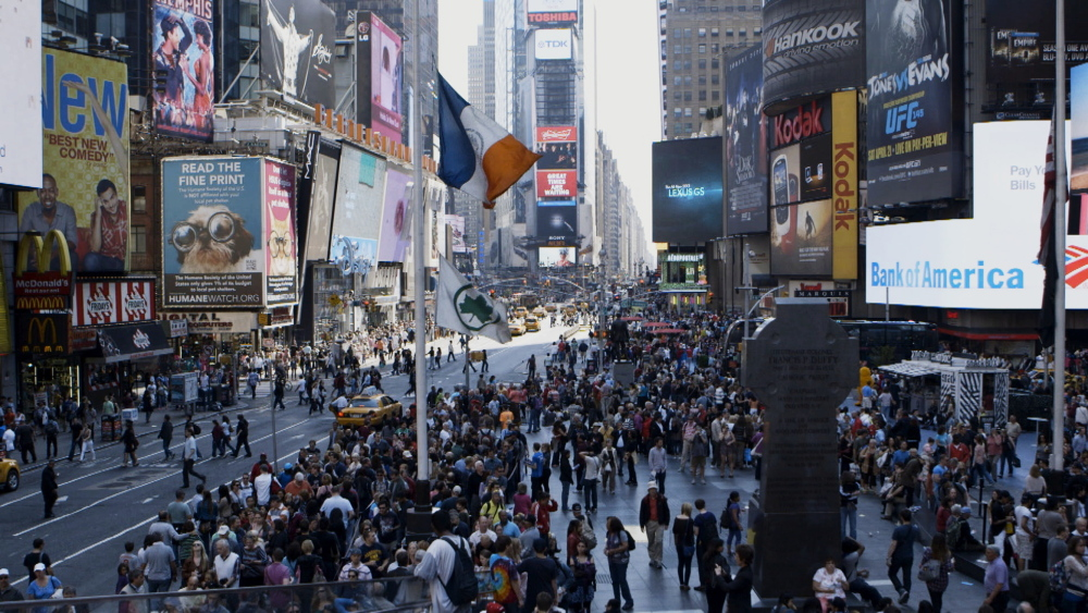 "Times Square in New York is seen in a still from the documentary ""The Human Scale,"" which is being screened on Friday in Rockland, sponsored by the Farnsworth Art Museum and The Strand Theatre."