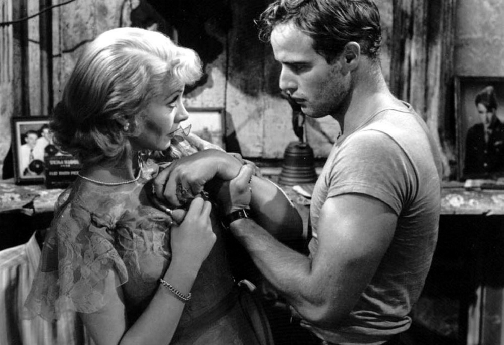 """Vivien Leigh and Marlon Brando in """"A Streetcar Named Desire,"""" being screened for free Sunday at the Dunaway Center in Ogunquit."""