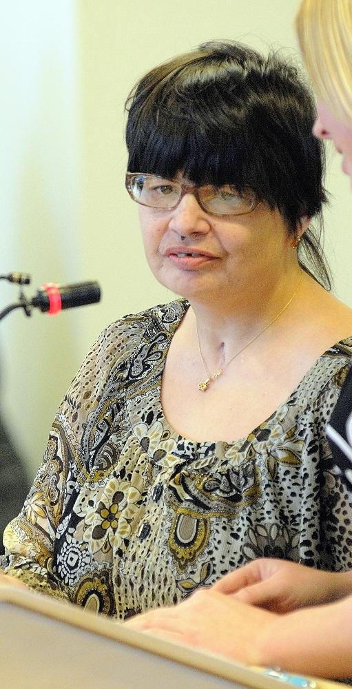 Tiphani Paquet of Biddeford testifies.
