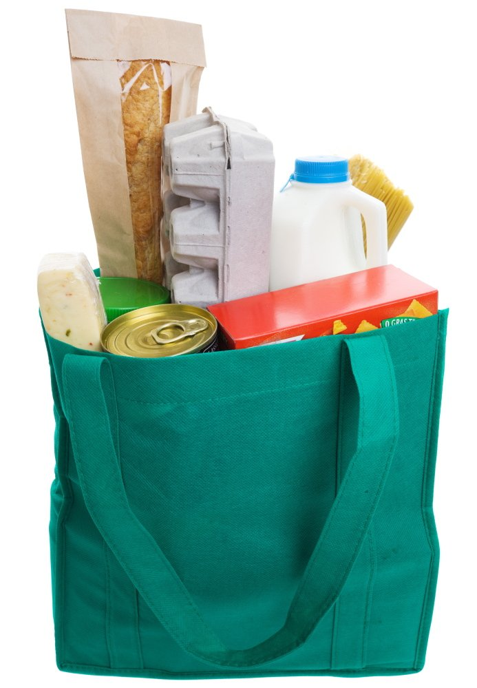 Advocates who want to see a reduction in single-use plastic grocery bags hope a per-bag fee will help convince shoppers in Portland to switch to reusable totes like this one.
