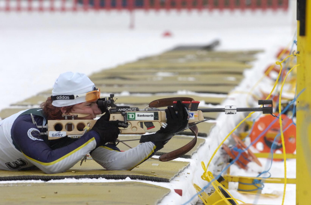 Russell Currier from Stockholm moved closer to an Olympic berth on Saturday by being the first American finisher in an IBU Cup 20-kilometer sprint in Italy.