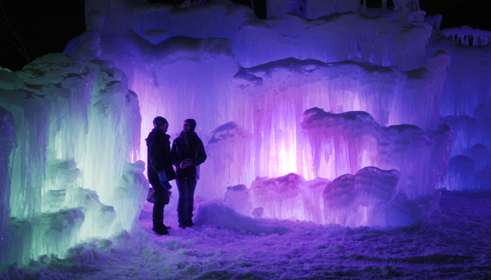 (FILE) An ice castle built for the 2013-2014 winter season attracted thousands of visitors to the base of the Loon Mountain ski resort in Lincoln, N.H.