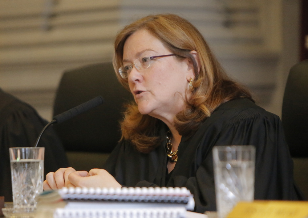 """A committee has endorsed a pay-raise proposal by Maine Supreme Judicial Court Chief Justice Leigh Saufley, above. The plan offers """"a little bit of progress,"""" said Saufley's liaison, Mary Ann Lynch, and would cost $180,000 in the next fiscal year."""