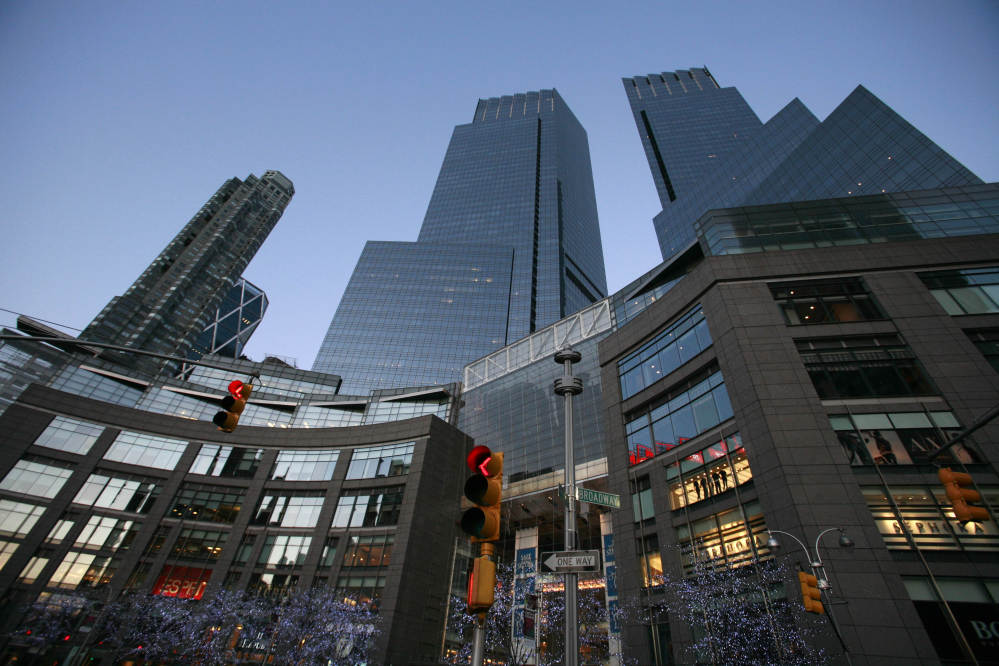 """Time Warner Cable has called the offer by Charter """"a non-starter."""" Shown is Time Warner Center in New York."""