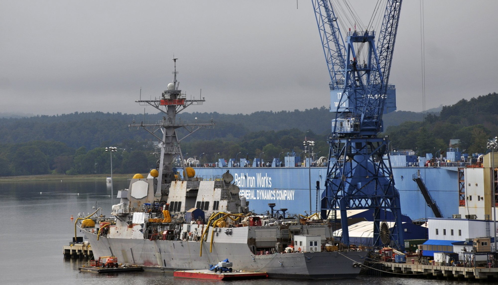 Bath Iron Works could finalize a contract for a destroyer if a spending bill makes it through Congress.