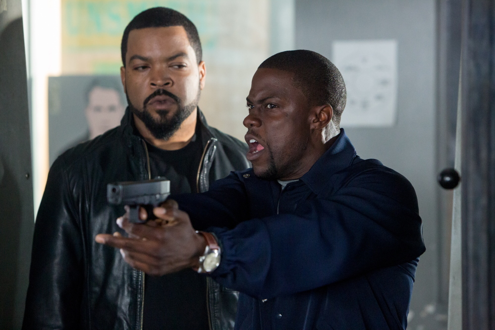"""Kevin Hart, right, with co-star Ice Cube, hopes to achieve Jay Z status, to have an """"impact on society."""""""