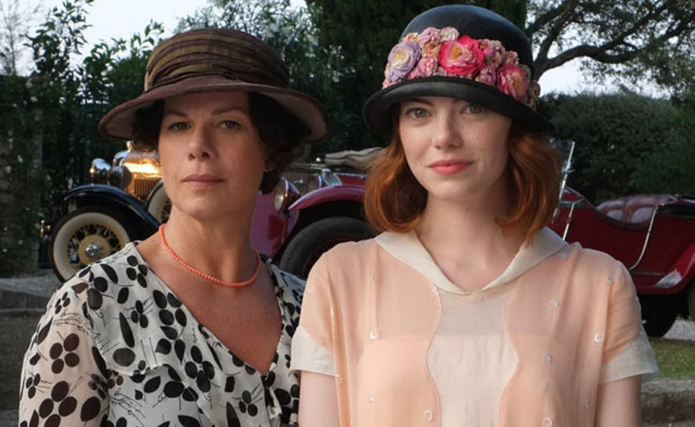 Marcia Gay Harden, left, and Emma Stone in