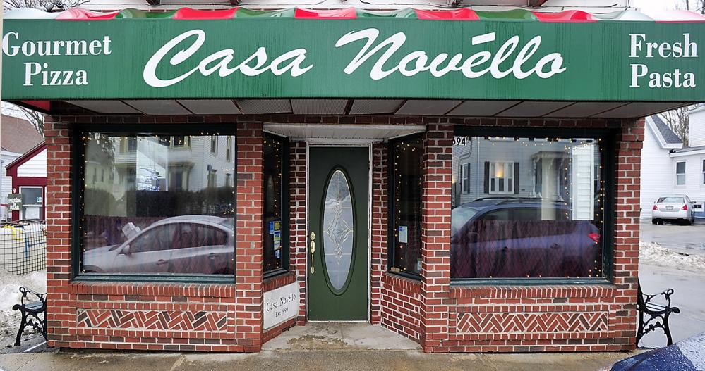 Exterior of Casa Novello restaurant in Westbrook