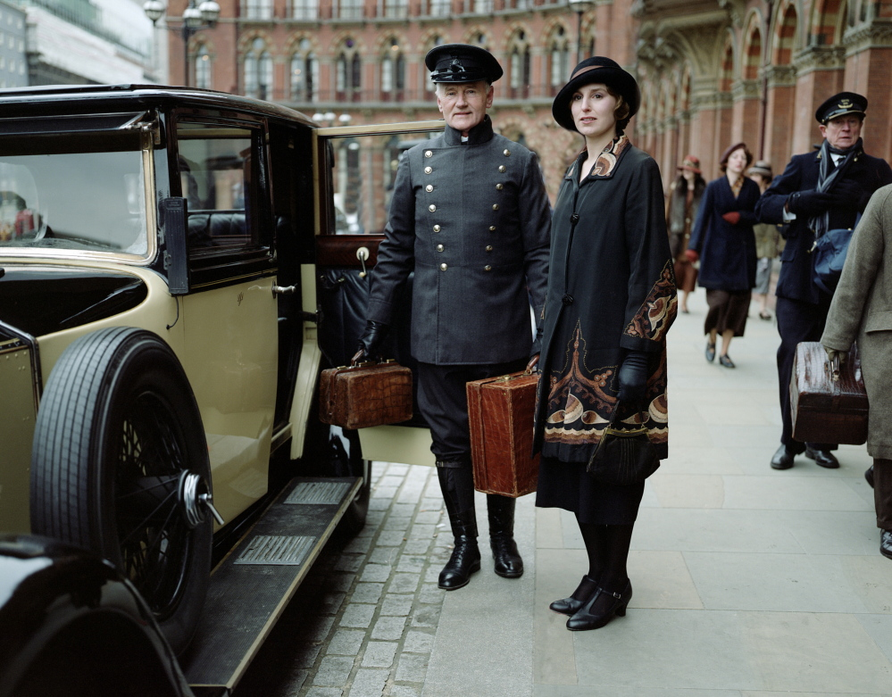"""Laura Carmichael is Lady Edith in a scene from Season 4 of the Masterpiece TV series, """"Downton Abbey."""" As it returns for its much-awaited fourth season, """"Downton Abbey"""" remains a series about elegance, tradition and gentility, and the pressures of preserving them."""