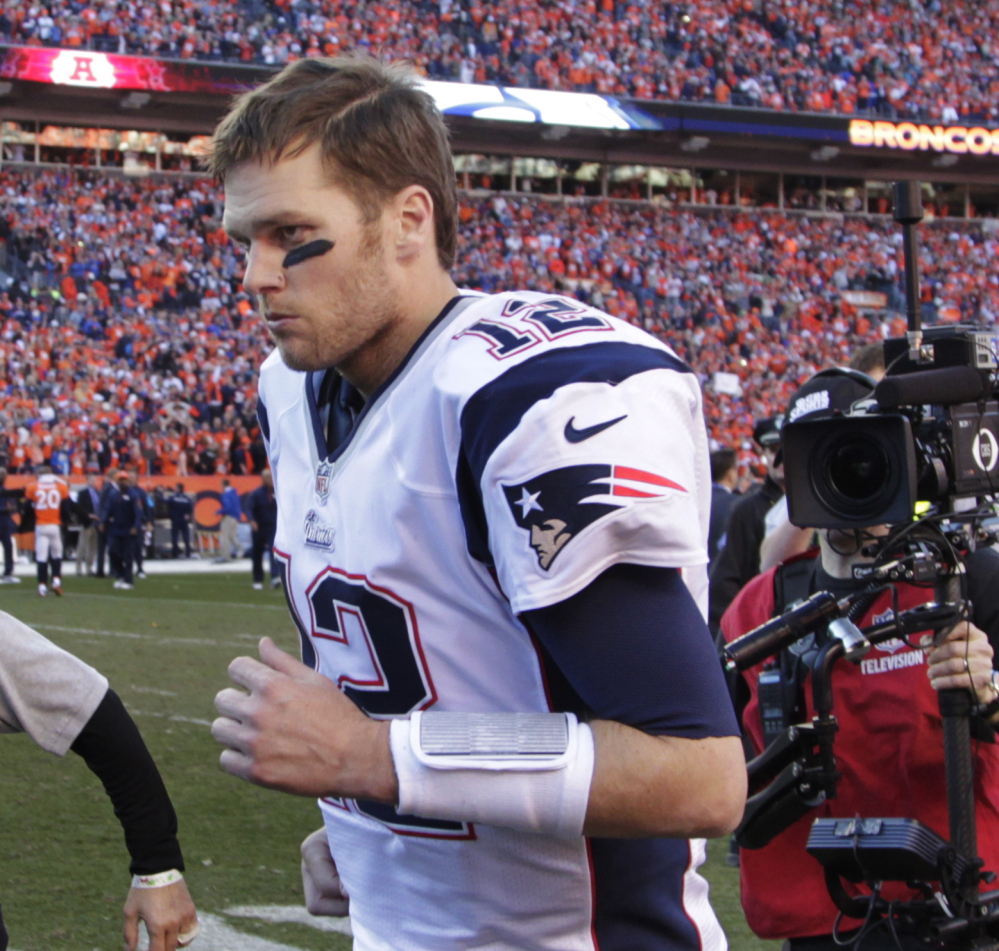 Tom Brady is 36 years old and needs more talent around him if the Patriots are going to win another title.