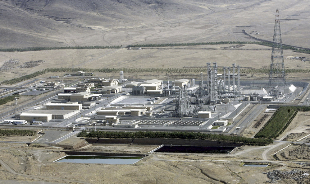 This 2006 photo shows an aerial view of a heavy-water production plant in the central Iranian town of Arak.