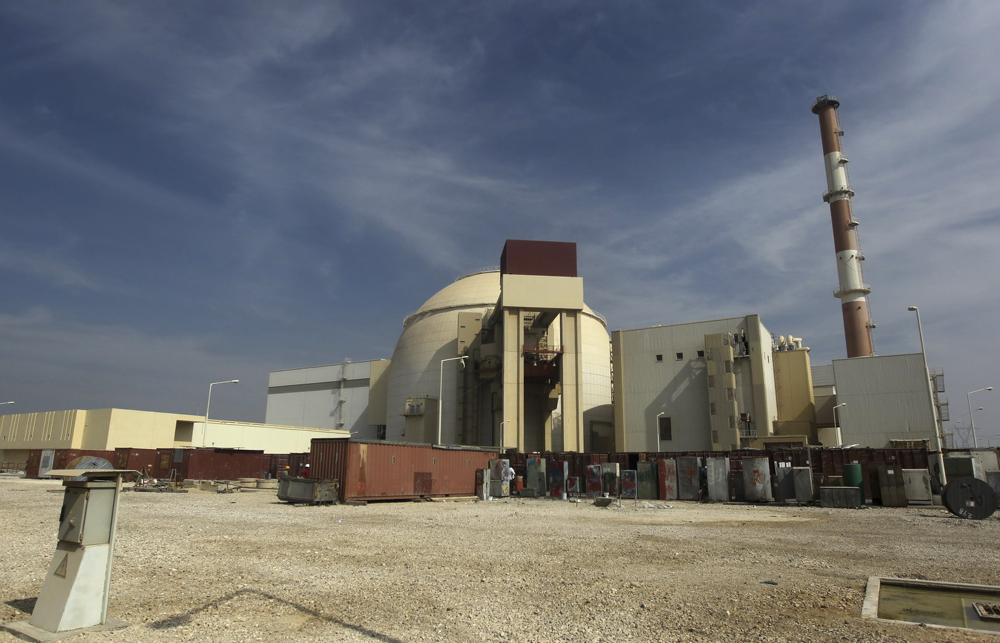 This 2010 photo shows the reactor building of the Bushehr nuclear power plant just outside the southern city of Bushehr, Iran.